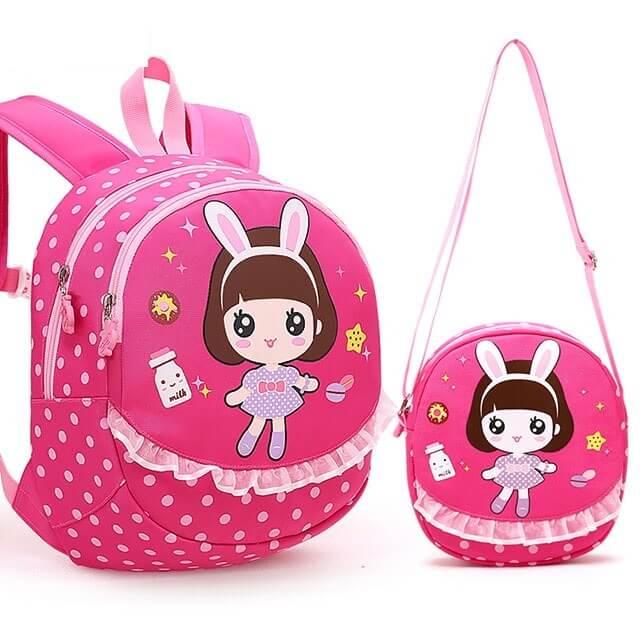 Bộ balo và túi xách cho bé gái đi mẫu giáo Bug House 2291