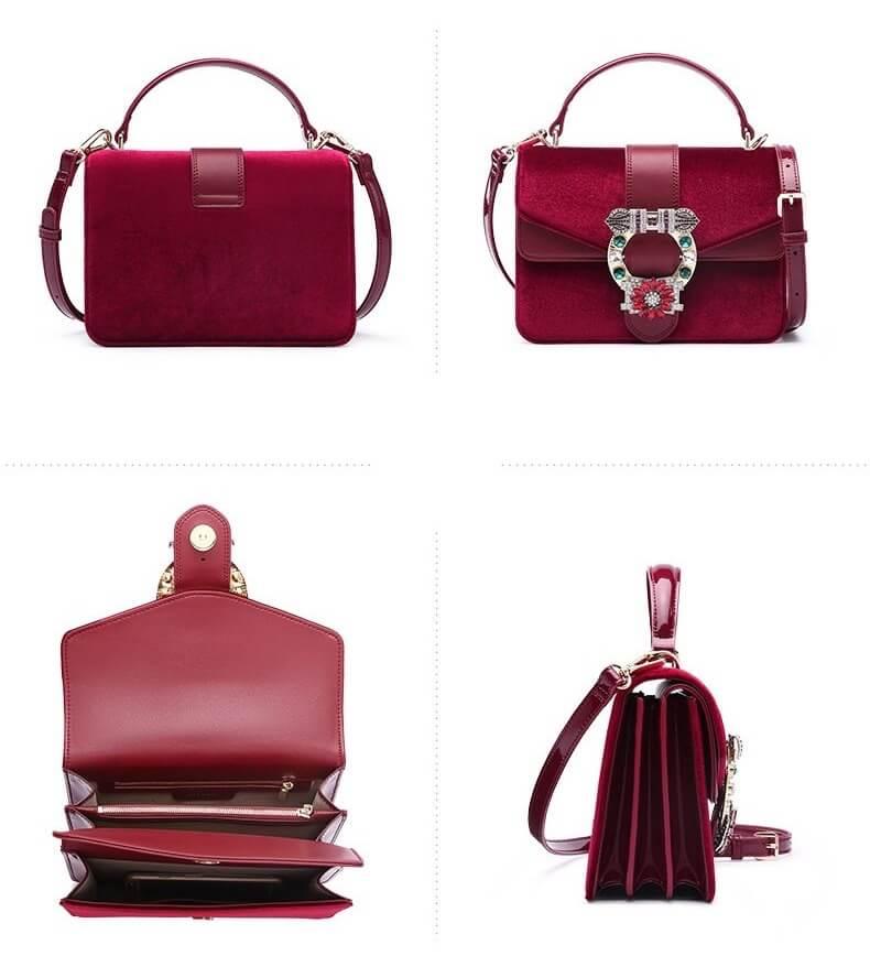 Túi đeo chéo nữ nhỏ đẹp hàng hiệu cao cấp SD 2457