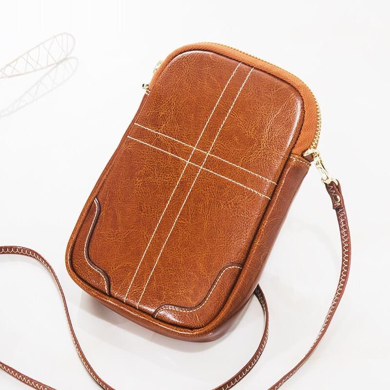 Túi đựng điện thoại da bò nữ đẹp Julan 2430