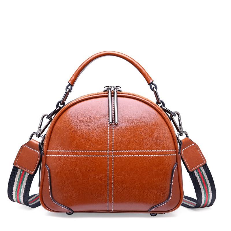 Túi xách nữ da bò thật đeo chéo nhỏ gọn DAN 2381