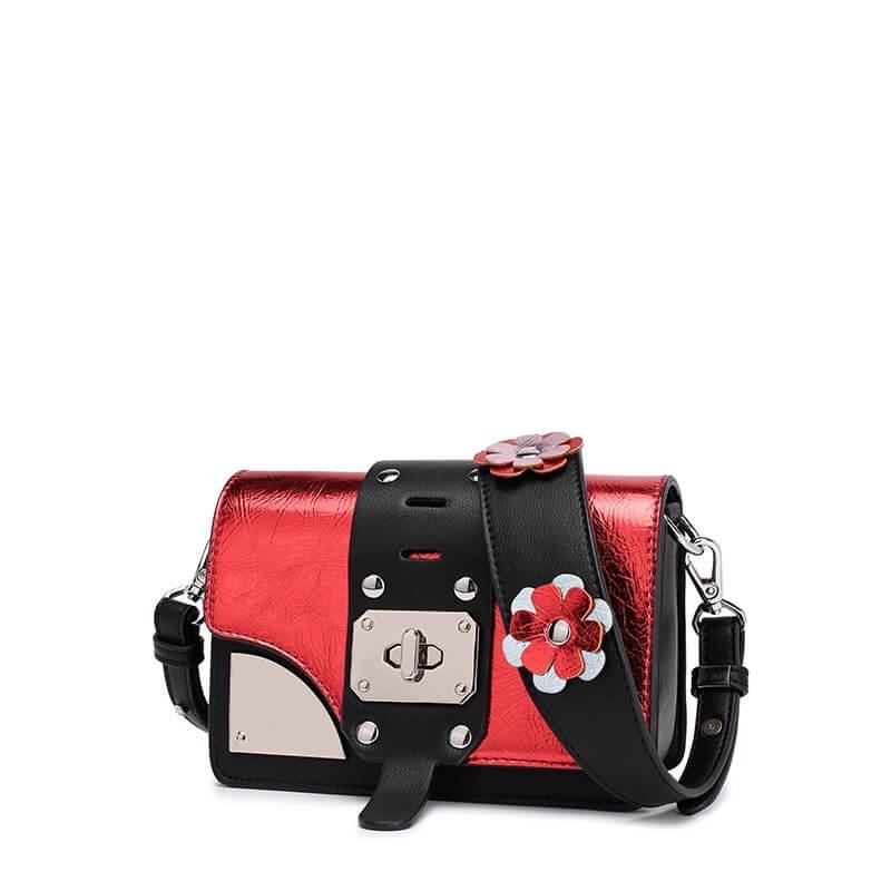 Túi xách thời trang đeo chéo dây đeo đính hoa D.Doo 2306