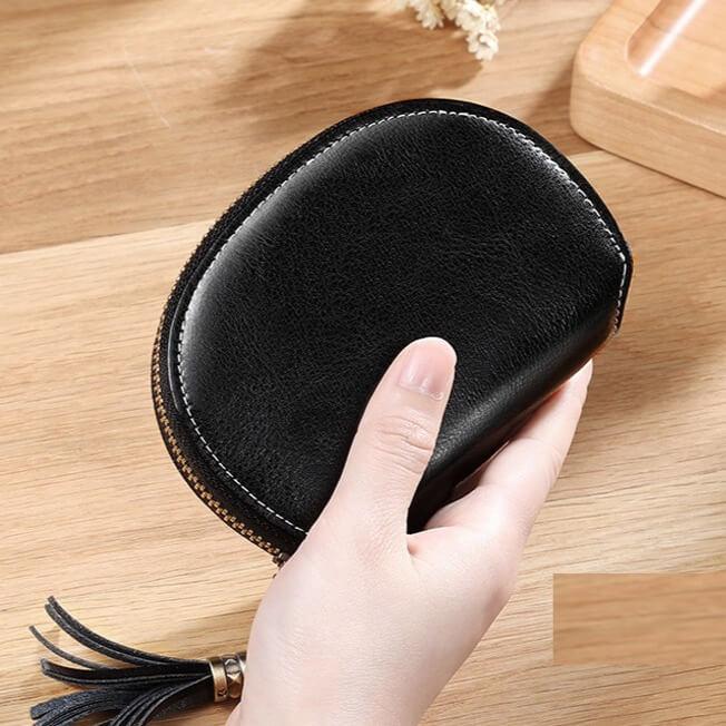 Ví bỏ túi nhỏ gọn đựng thẻ card hình tròn khoá kéo XM 2450